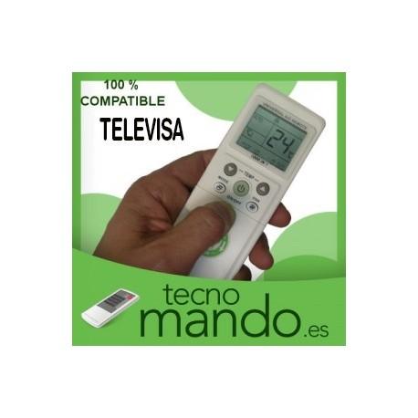 TELEVISA - MANDO A DISTANCIA AIRE ACONDICIONADO 100% COMPATIBLE