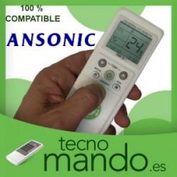 ANSONIC - MANDO A DISTANCIA AIRE ACONDICIONADO  100% COMPATIBLE