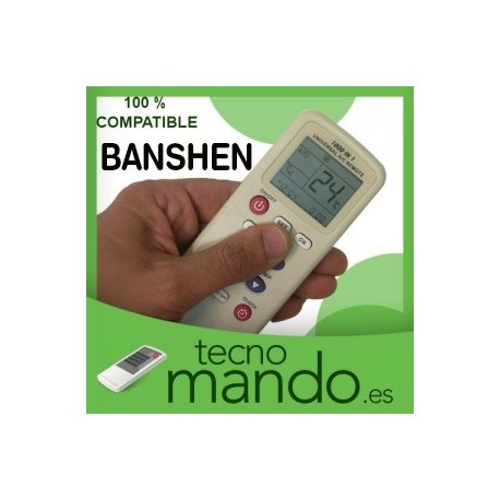 BANSHEN - MANDO A DISTANCIA AIRE ACONDICIONADO 100% COMPATIBLE