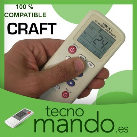CRAFT - MANDO A DISTANCIA AIRE ACONDICIONADO  100% COMPATIBLE
