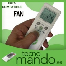 FAN - MANDO A DISTANCIA AIRE ACONDICIONADO  100% COMPATIBLE