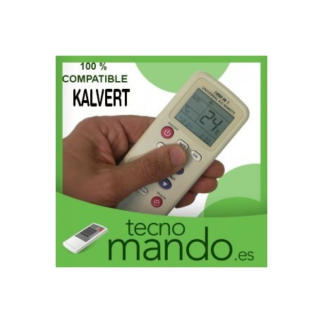 KALVERT - MANDO A DISTANCIA AIRE ACONDICIONADO  100% COMPATIBLE