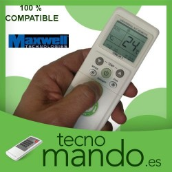 MAXWELL - MANDO A DISTANCIA AIRE ACONDICIONADO 100% COMPATIBLE