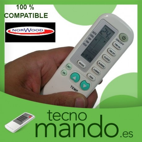 NORWOOD - MANDO A DISTANCIA AIRE ACONDICIONADO  100% COMPATIBLE