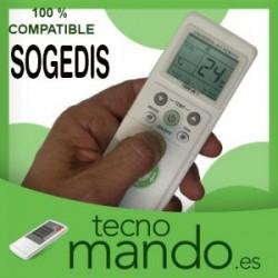 SOGEDIS - MANDO A DISTANCIA AIRE ACONDICIONADO 100% COMPATIBLE