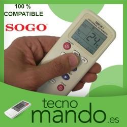 SOGO - MANDO A DISTANCIA AIRE ACONDICIONADO 100% COMPATIBLE