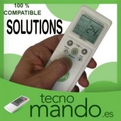 SOLUTIONS - MANDO A DISTANCIA AIRE ACONDICIONADO 100% COMPATIBLE