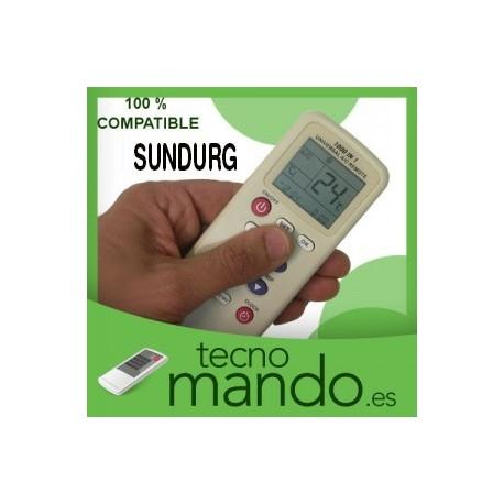 SUNDURG - MANDO A DISTANCIA AIRE ACONDICIONADO  100% COMPATIBLE