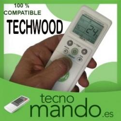 TECHWOOD - MANDO A DISTANCIA AIRE ACONDICIONADO  100% COMPATIBLE