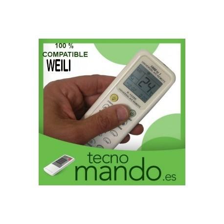 WEILI - MANDO A DISTANCIA AIRE ACONDICIONADO  100% COMPATIBLE