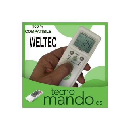 WELTEC - MANDO A DISTANCIA AIRE ACONDICIONADO  100% COMPATIBLE