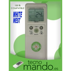 WHITE-WEST - MANDO A DISTANCIA AIRE ACONDICIONADO 100% COMPATIBLE