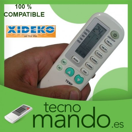 XIDEKO - MANDO A DISTANCIA AIRE ACONDICIONADO 100% COMPATIBLE