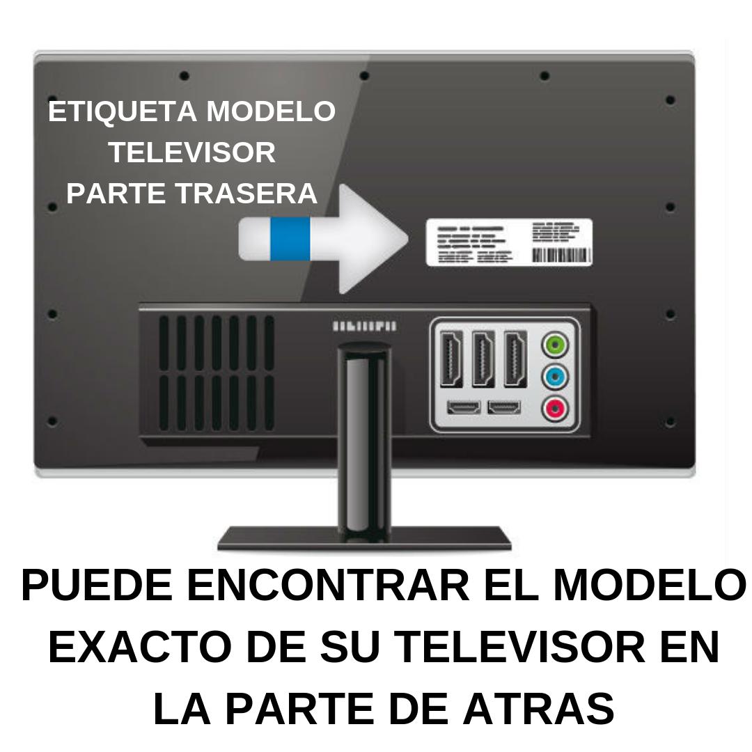 ETIQUETA MODELO TELEVISOR PARTE TRASERA.